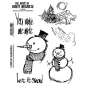 Brett Weldele Cling Mount Stamps - Blizzy the Happy Snowman BWC015