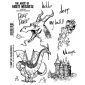 Brett Weldele Cling Mount Stamps - The Derpy Dragon BWC018
