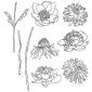 Tim Holtz Cling Mount Stamps - Flower Garden CMS215