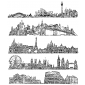 Tim Holtz Cling Mount Stamps - Cityscapes CMS224