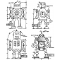 Tim Holtz Cling Mount Stamps - Robot Blueprint CMS233