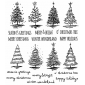 Tim Holtz Cling Mount Stamps - Scribbly Christmas CMS249
