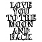 Tim Holtz Wood Mounted Stamp - To The Moon K1-2613