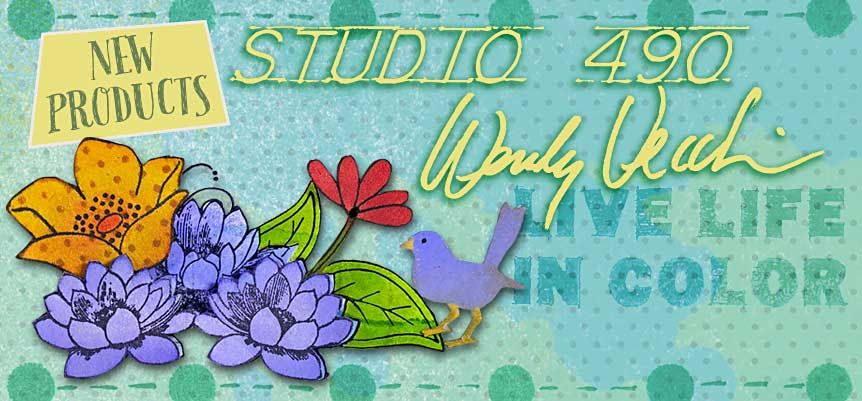 New stamps and stencils from Wendy Vecchi