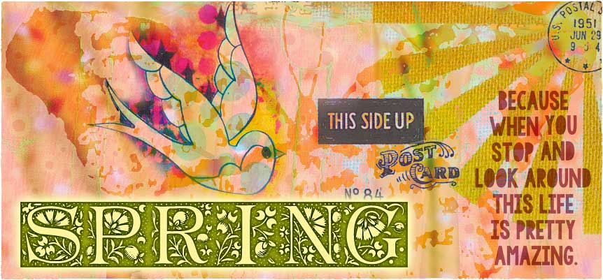 Spring stamps, stencils and dies