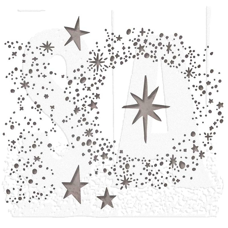 Sizzix Swirling Stars Thinlits Die Set 663095