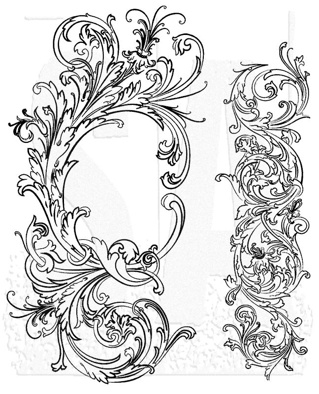 Scroll Fleur De Lis Lips Notes Assortment Of Unmounted Cling Foam Stamp Set From Art Declassified Paper Tag