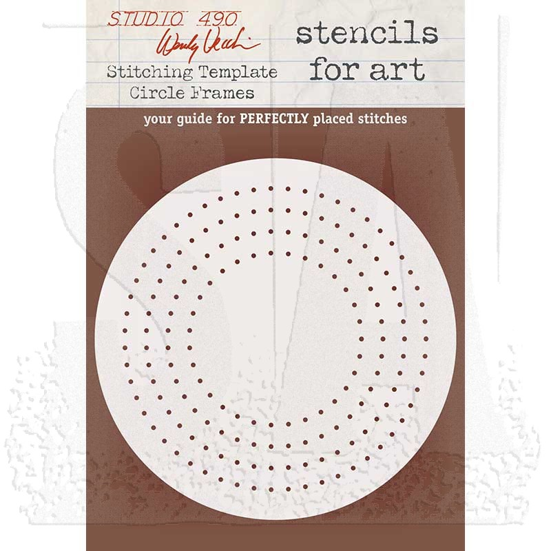 wendy vecchi stencils for art stitching template circle frames
