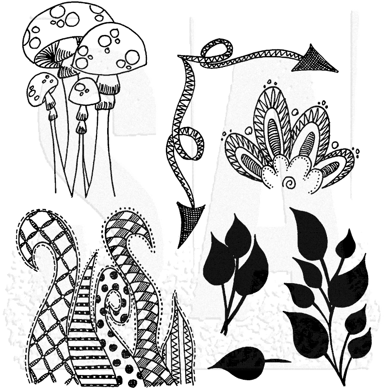 Dylusions Cling Mount Stamps Doodle Parts Dyr34582