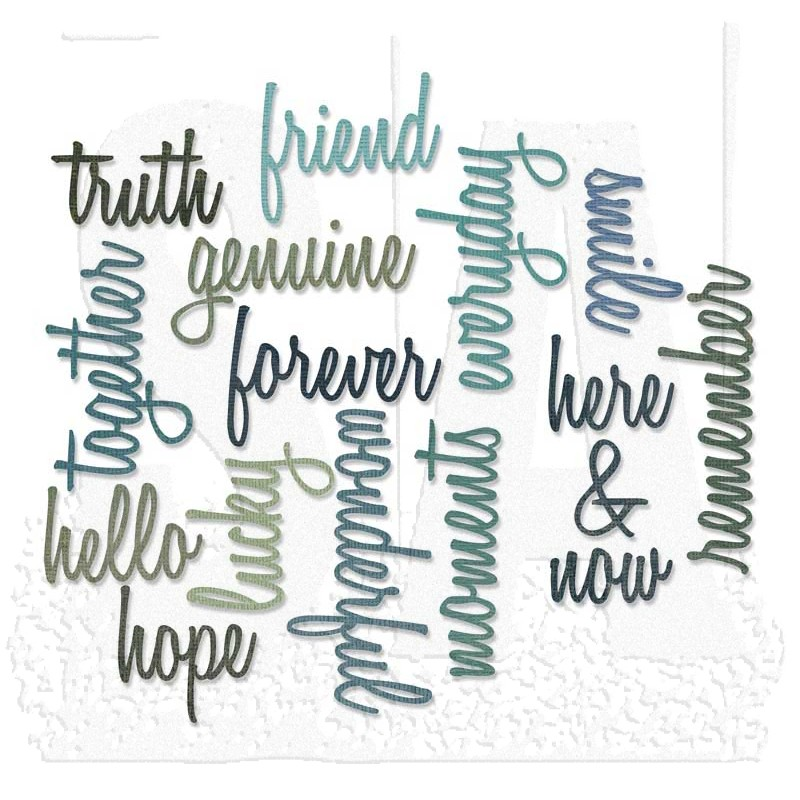 Sizzix Thinlits Die Set - Friendship Words: Script 660225
