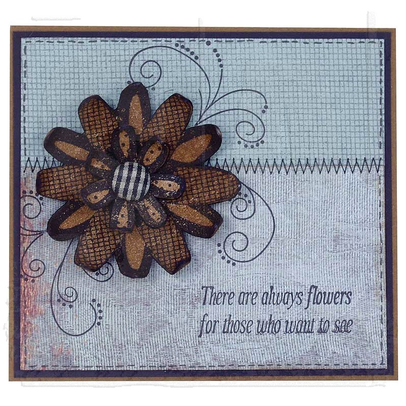 Wendy Vecchi Cling Mount Stamps Flower Art Lcs004