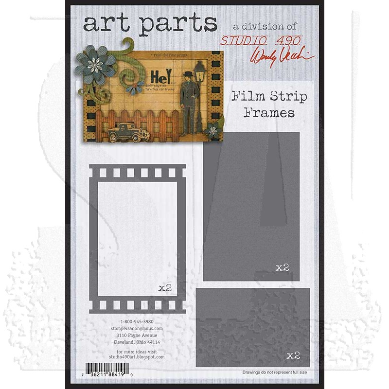 Studio 490 Art Parts - Film Strip Frames WVAPFSF