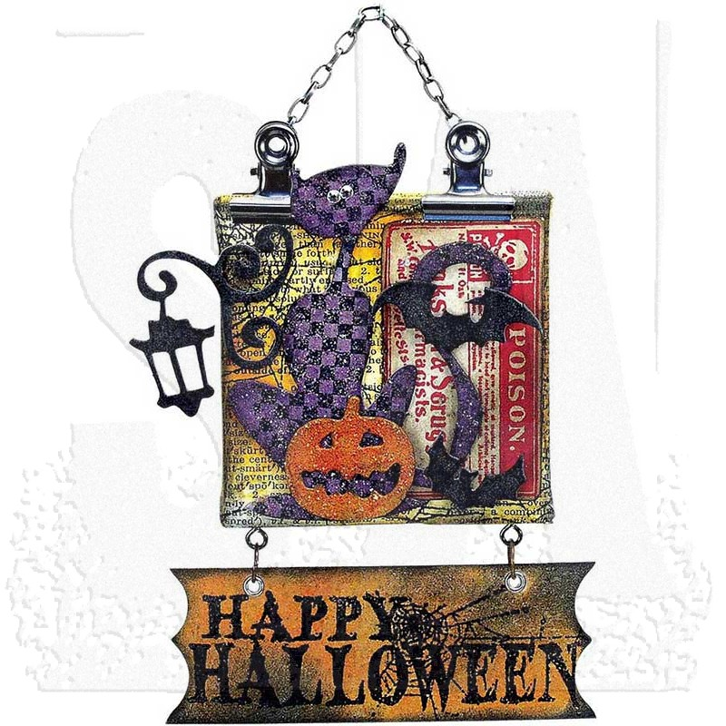 Tim Holtz Cling Mount Stamps Mini Halloween Cms093