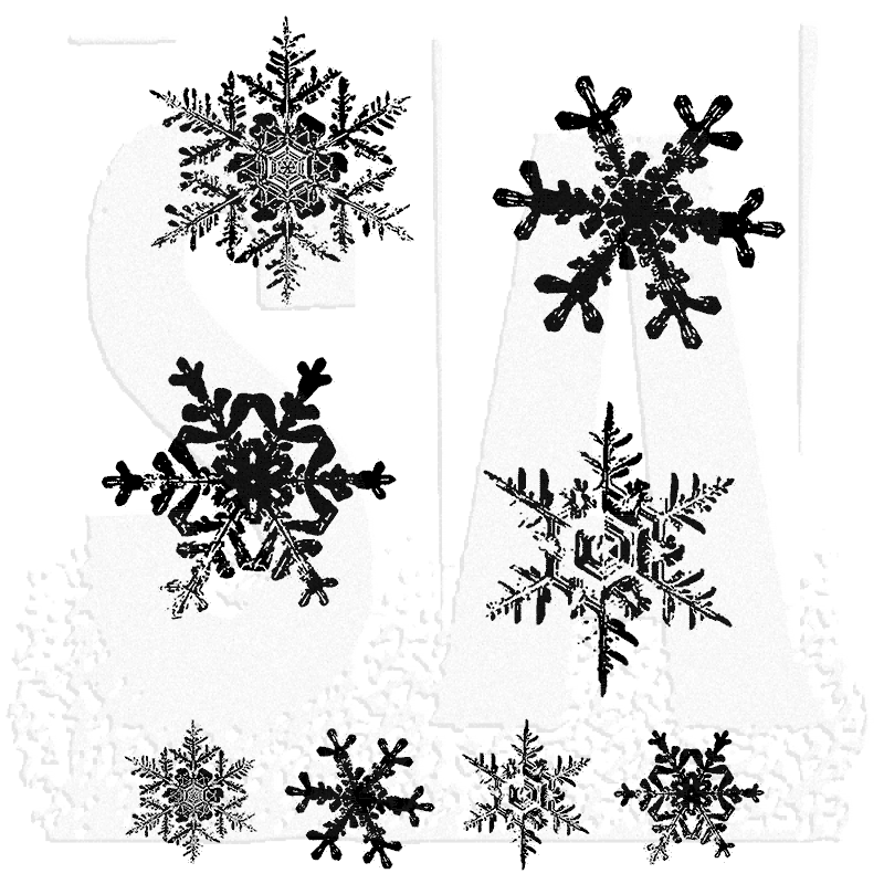 Winter Sketchbook Stampers Anonymous Tim Holtz Cling Rubber Stamp Set