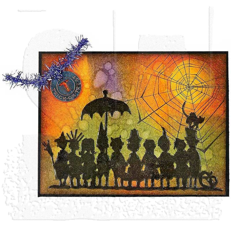 Tim Holtz Cling Mount Stamps Halloween Cutouts Cms139