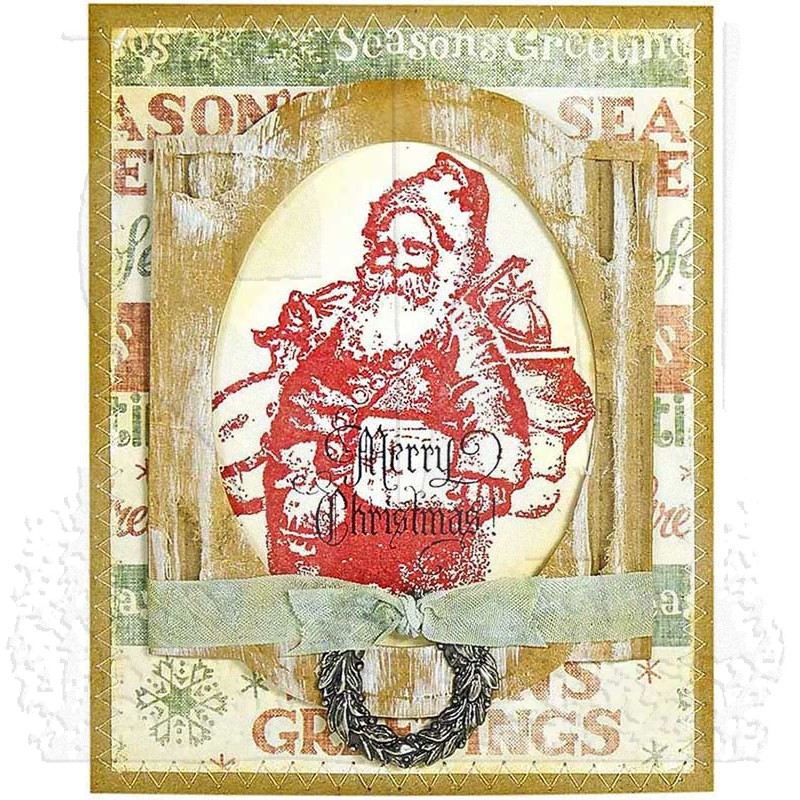 Tim Holtz Cling Mount Stamps Old Fashioned Christmas Cms175
