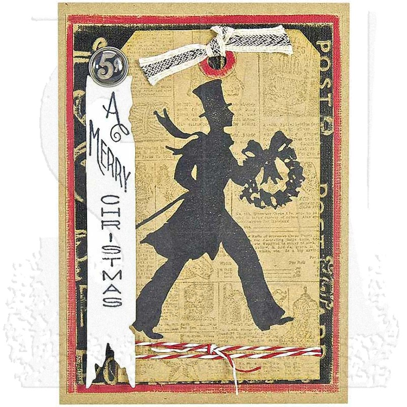 Tim Holtz Cling Mount Stamps Deco Christmas Cms176