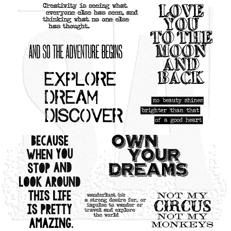 Tim Holtz Cling Mount Stamps Life Quotes Cms227