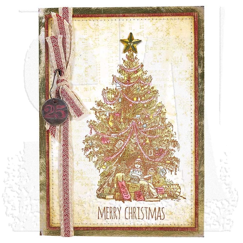 Tim Holtz Cling Mount Stamps Christmas Magic Cms247