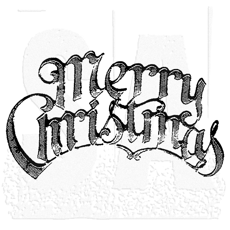 tim holtz wood mounted stamp merry christmas k3 1188 - Christmas Stamp