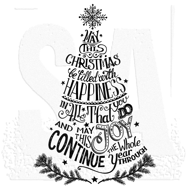 tim holtz wood mounted stamp doodle merry little christmas u1 2943