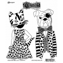 Dylusions Cling Mount Stamps - Winston and Lulu DYR48497