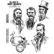 Brett Weldele Cling Mount Stamps - Steampunk Selfies, Gents BWC010