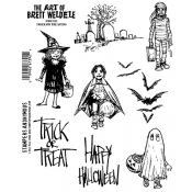 Brett Weldele Cling Mount Stamps - Trick or Treaters BWC013