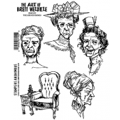 Brett Weldele Cling Mount Stamps - The Grand Dames BWC019