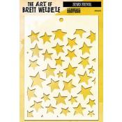 Brett Weldele Stencil - Stars BWS-007