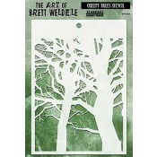 Brett Weldele Stencil - Creepy Trees BWS-004