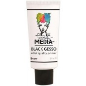 Dina Wakley Media Black Gesso, 2 oz. Tube - MDM41702