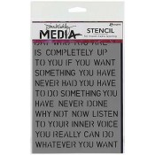 Dina Wakley Media Stencil: Affirmations MDS41238