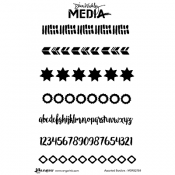 Dina Wakley Media Cling Mount Stamps: Assorted Borders MDR52784