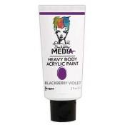 Dina Wakley Media Heavy Body Acrylic Paint - Blackberry Violet MDP41078