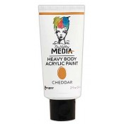 Dina Wakley Media Heavy Body Acrylic Paint: Cheddar MDP48800