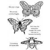 Dina Wakley Media Cling Mount Stamps: Scribbly Insects MDR44499