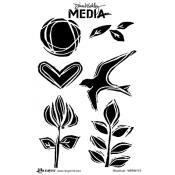 Dina Wakley Media Cling Mount Stamps: Woodcuts MDR46110