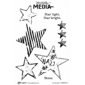 Dina Wakley Media Cling Mount Stamps: Grungy Stars MDR47612