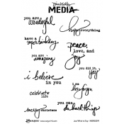 Dina Wakley Media Cling Mount Stamps: Just What To Say MDR50391
