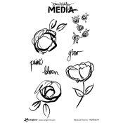 Dina Wakley Media Cling Mount Stamps: Abstract Blooms MDR55679