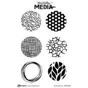 Dina Wakley Media Cling Mount Stamps: Circle Patterns MDR55686