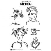 Dina Wakley Media Cling Mount Stamps: Homage to Frida MDR55693