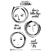 Dina Wakley Media Cling Mount Stamps: Oops Oh Well MDR58397