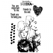 Dina Wakley Media Cling Mount Stamps: Friends to the End MDR60987