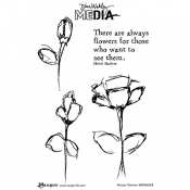 Dina Wakley Cling Mount Stamps: Always Flowers MDR66224