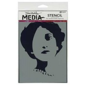 Dina Wakley Media Stencil: Stenciled Queenie MDS44239