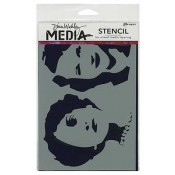 Dina Wakley Media Stencil: Stenciled Women MDS44246