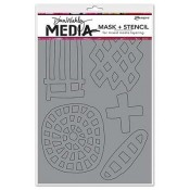 Dina Wakley Media Mask + Stencil: Graphic Shapes - MDS45595