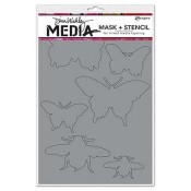 Dina Wakley Media Mask + Stencil: Insects - MDS45601
